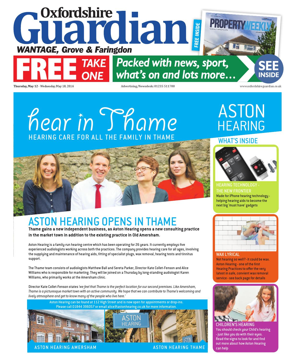 12 may 2016 oxfordshire guardian wantage by Taylor Newspapers - issuu