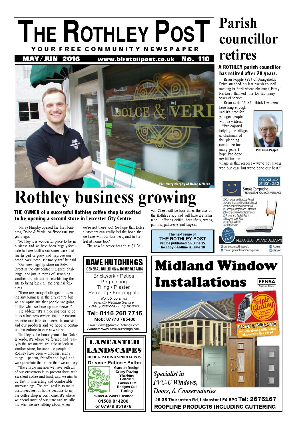 Rothley Post 118 May 2016 By The Birstall Issuu Quick Tip 16 Threeway Twoway Or Oneway Switch Misterfixit