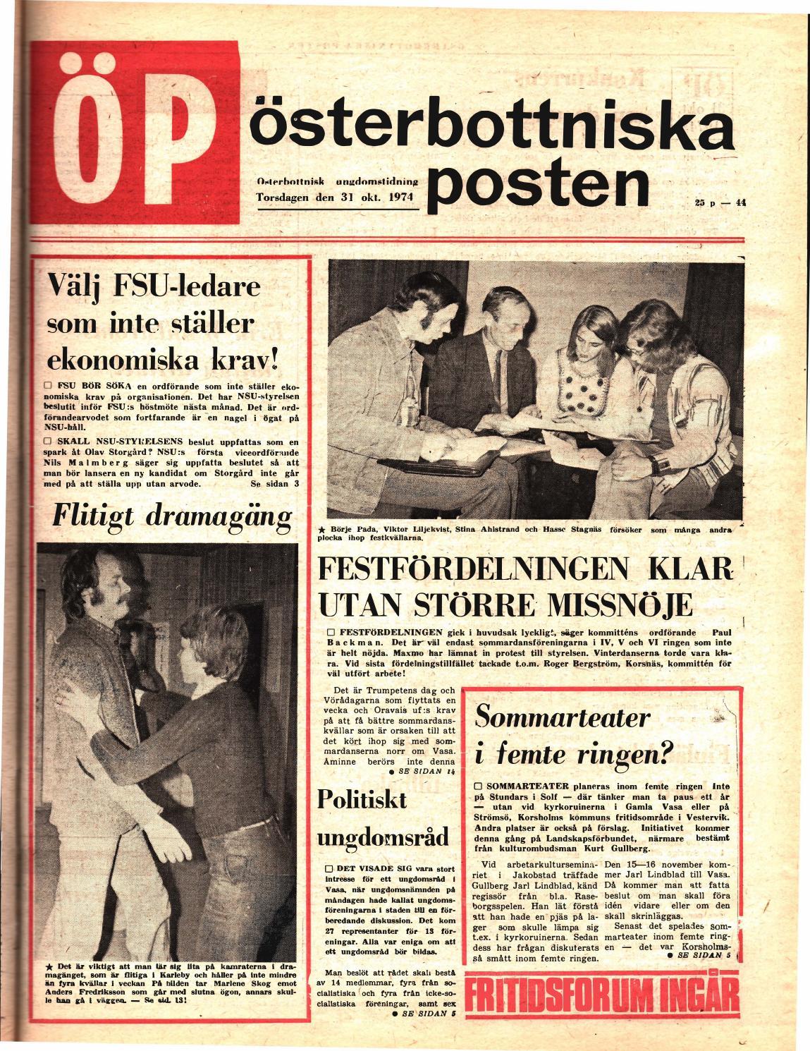 pretty nice 3d243 05d79 Österbottniska Posten (ÖP) nr. 44 1974 by Österbottniska Posten - issuu