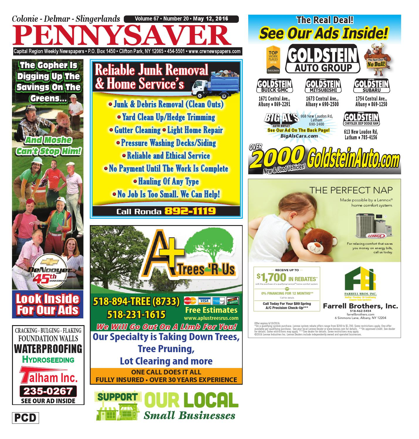Colonie Delmar Slingerlands Pennysaver 051216 By Capital