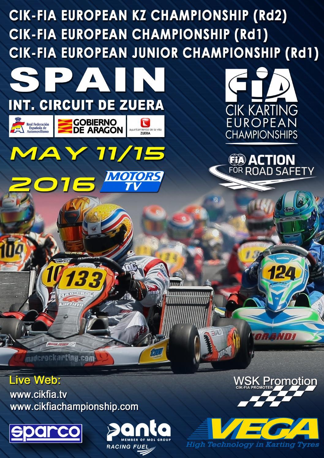 Circuito Zuera : Cik fia european championship academy trophy 2016 zuera by wsk