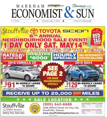 Markham economist sun may 12 2016 by markham economist sun issuu page 1 fandeluxe Choice Image