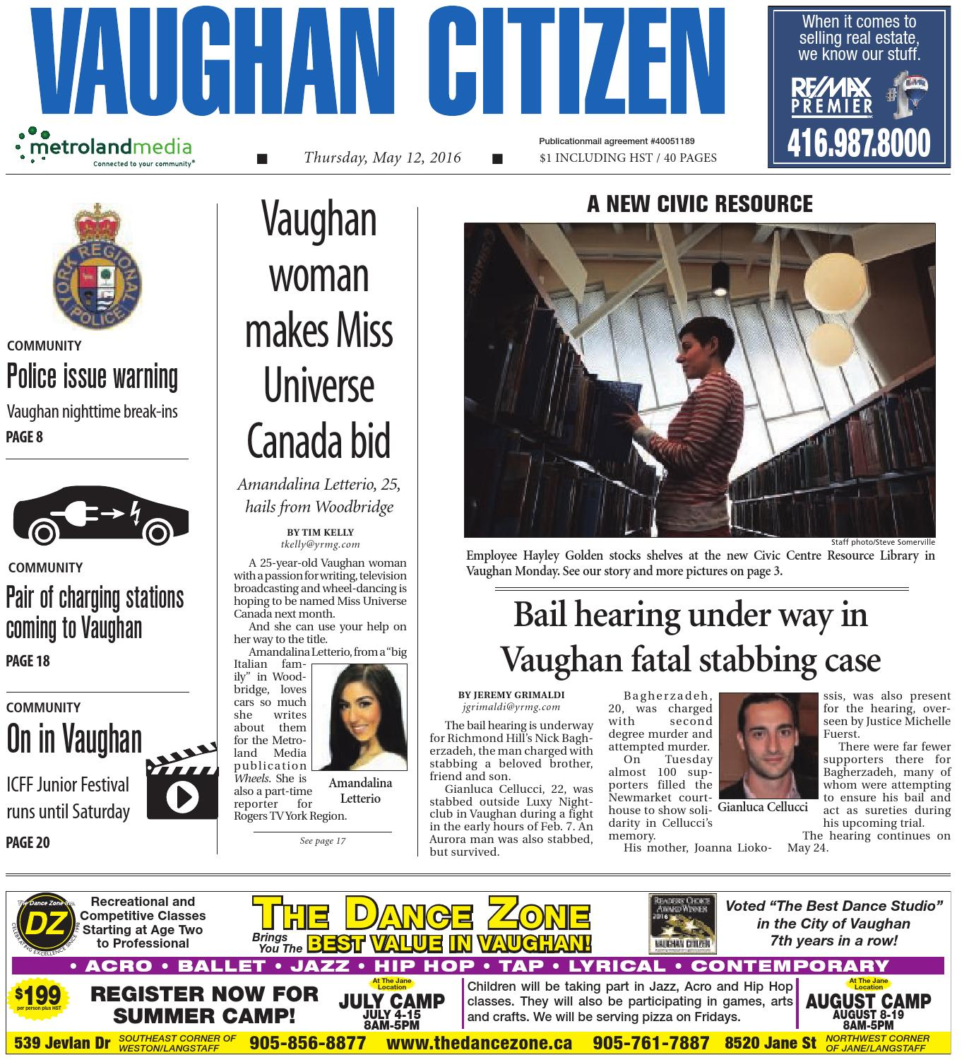 Vaughan Citizen May 12 2016 By Issuu Chopper Wiring Diagram Besides Maytag Atlantis Dryer