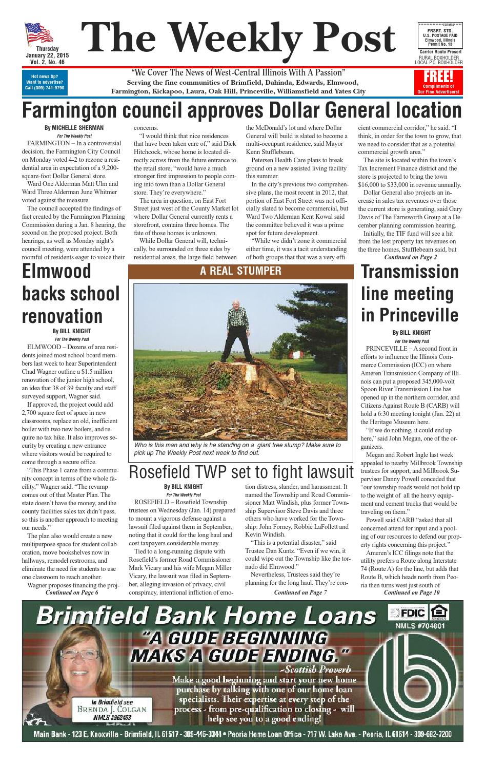 The Weekly Post 1/22/15 by The Weekly Post - issuu