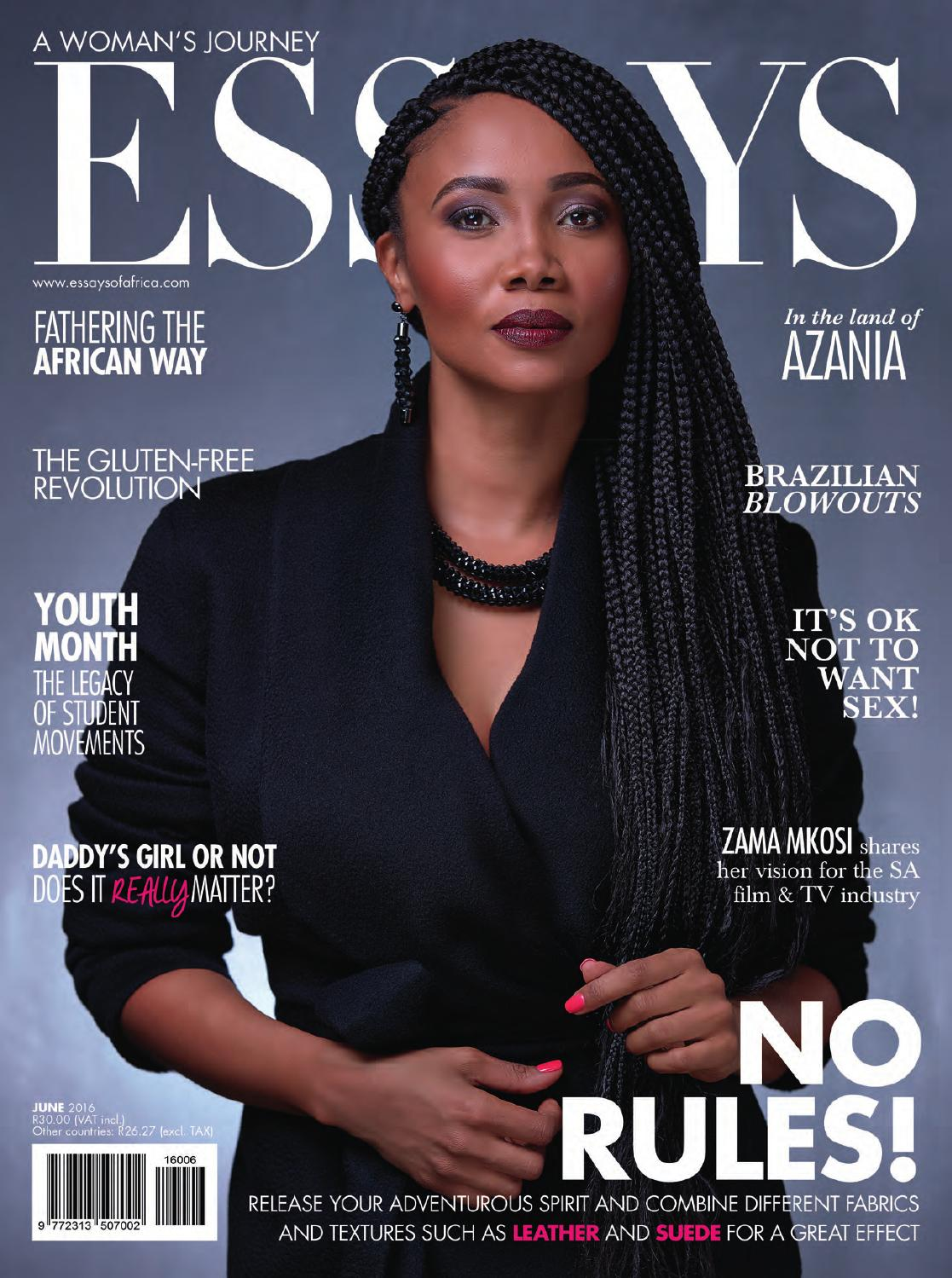 Essays Of Africa June  By Kwenta Media  Issuu  Essay On High School Dropouts also Thesis Statement For Essay  Narrative Essay Example High School