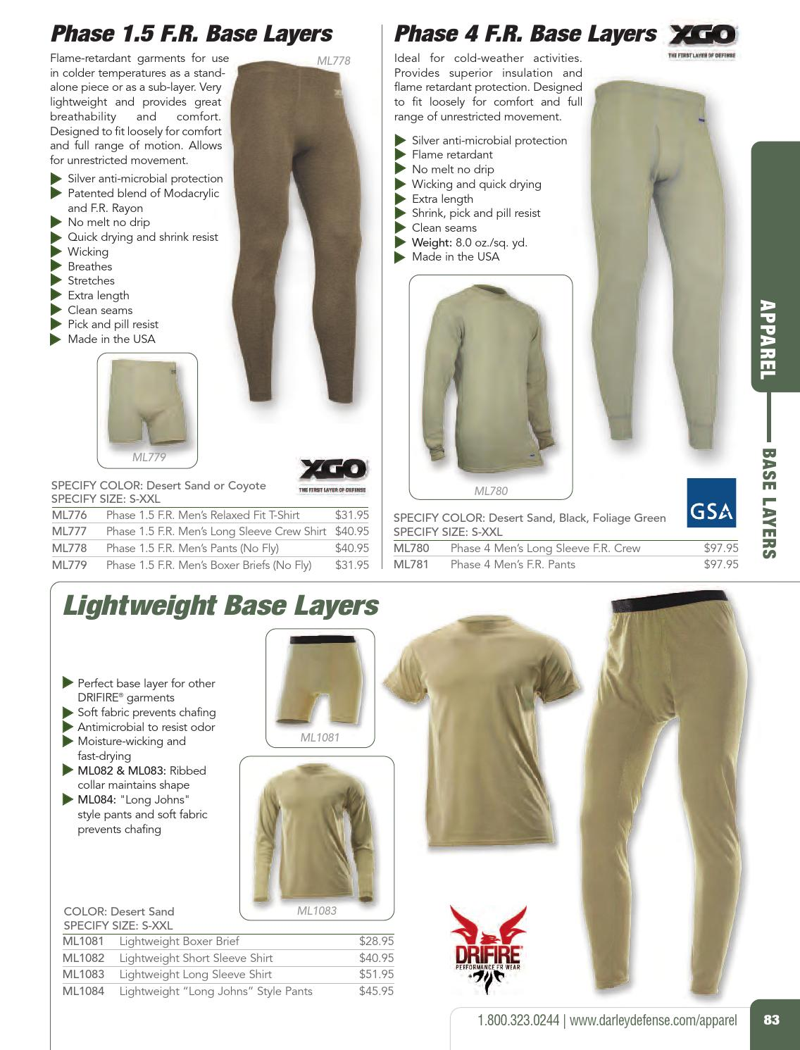 DRIFIRE Flame Resistant Military Ultra-Lightweight Long John Pant XXL