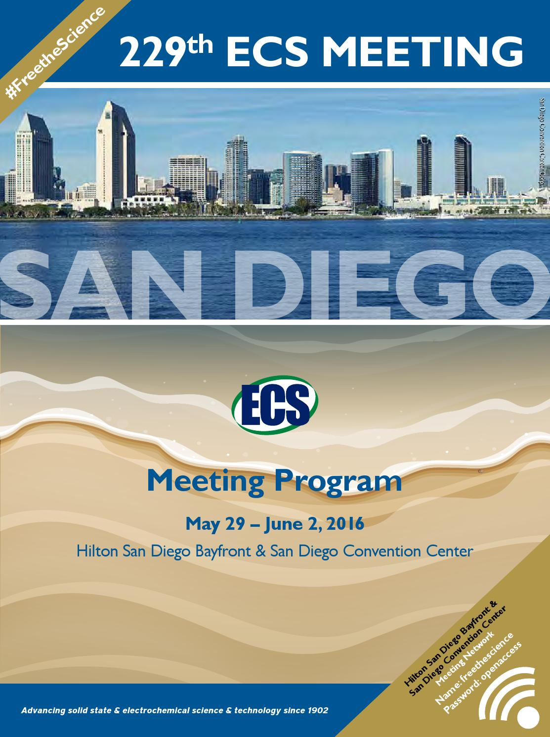 229th ECS Meeting San Diego CA by The Electrochemical Society issuu