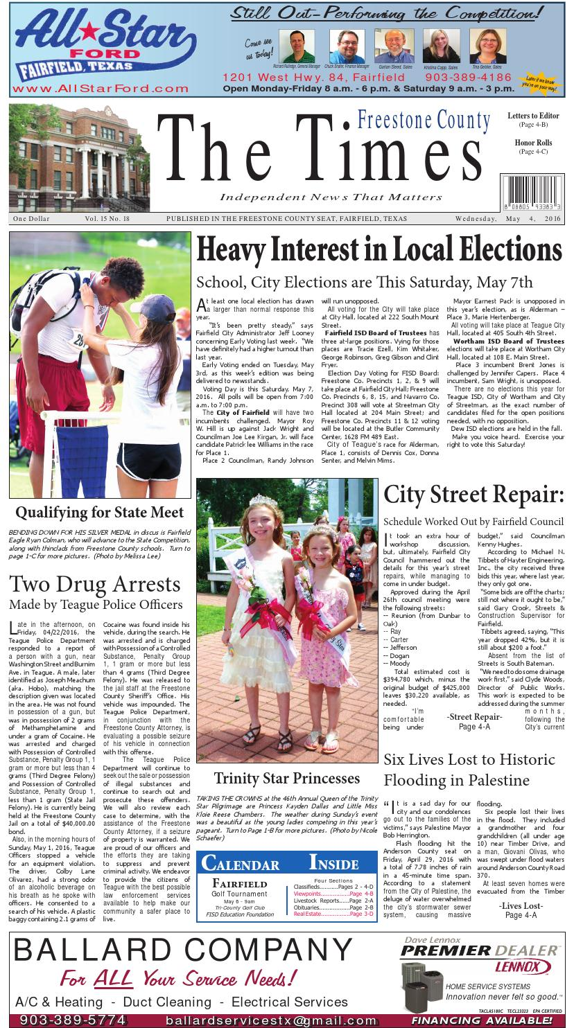 Freestonecountytimes050416 by Karen Leidy - issuu