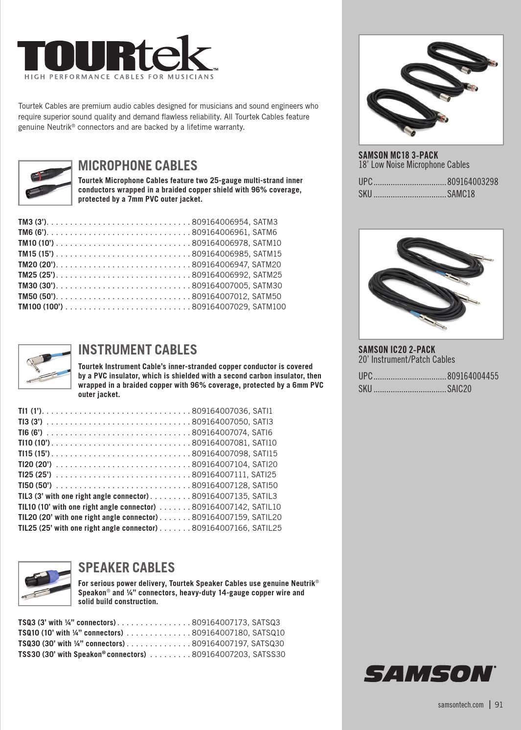 Samson Full Line Catalog 2015