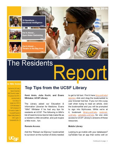 The Residents Report Spring 2016 by GME UCSF - issuu