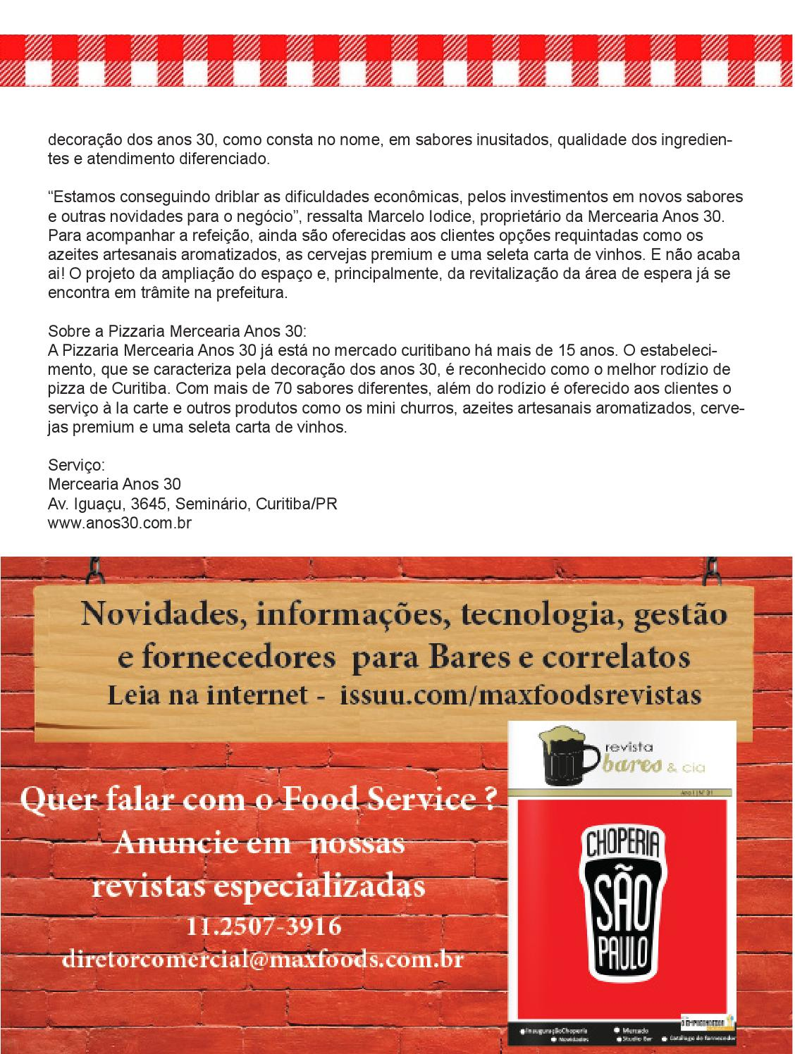 Revista Pizzaria Outros Ed 05 By Max Foods Comunicação