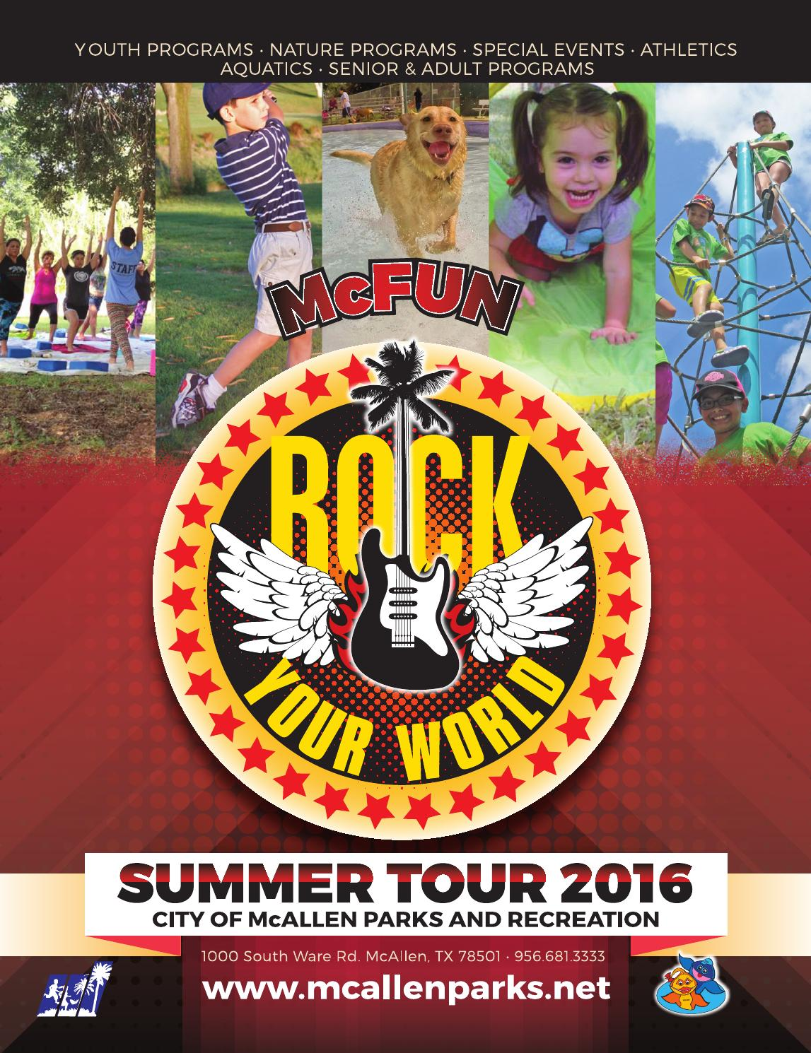 Mcfun summer 2016 by mcallen parks and recreation issuu 1betcityfo Gallery