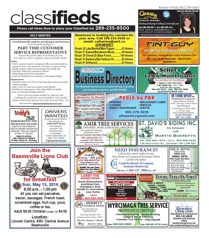 newsnow Niagara e-edition May 12 2016 by newsnow Niagara - issuu