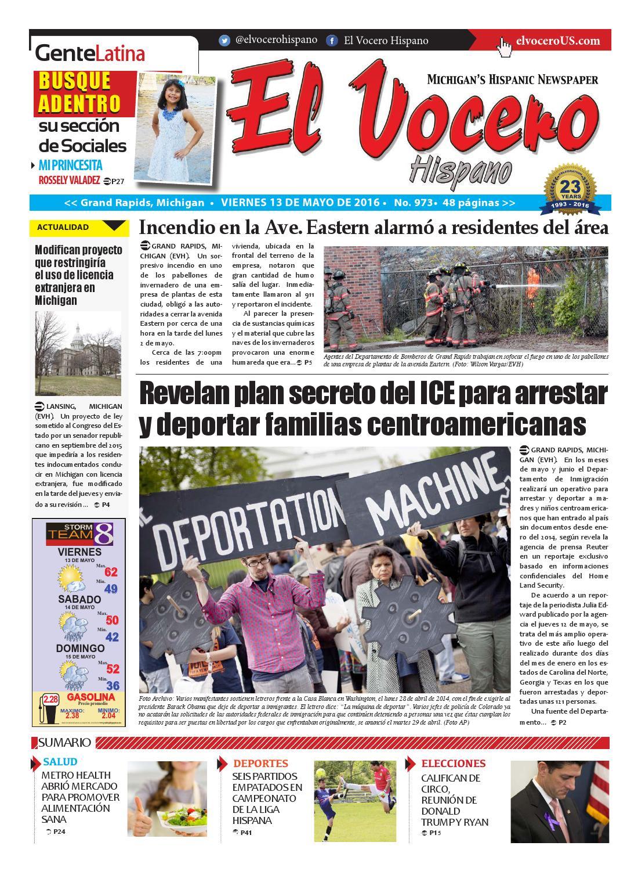 El Vocero Hispano 13 de Mayo de 2016 by El Vocero Hispano - issuu