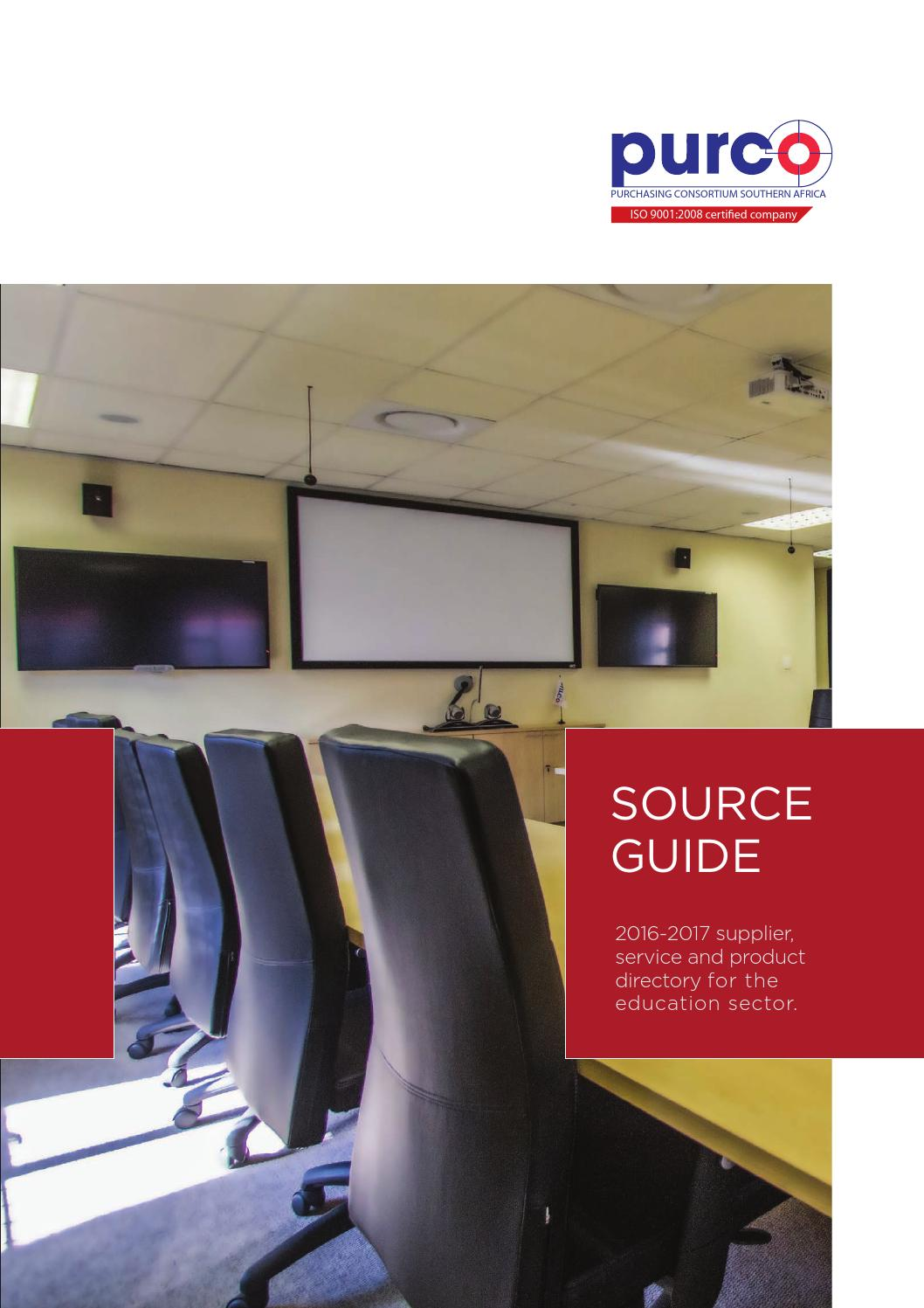 PURCO SA Source Guide 2016 By Davy Ivins