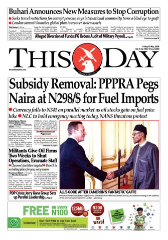 d2eed5ddb78 Friday 13th May 2016 by THISDAY Newspapers Ltd - issuu