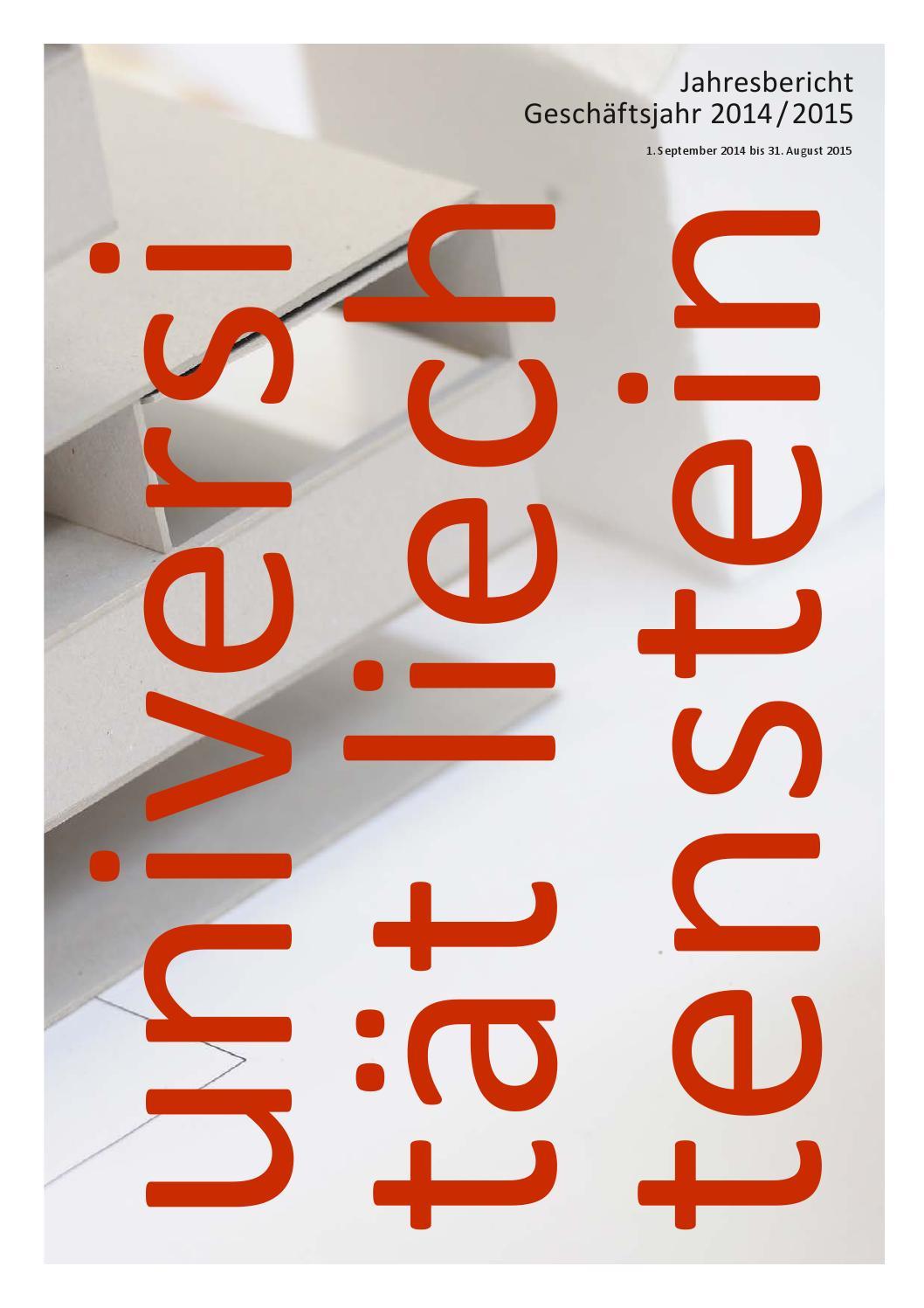 Universität Liechtenstein - Jahresbericht Geschäftsjahr 2014 / 2015 by  Universität Liechtenstein - issuu