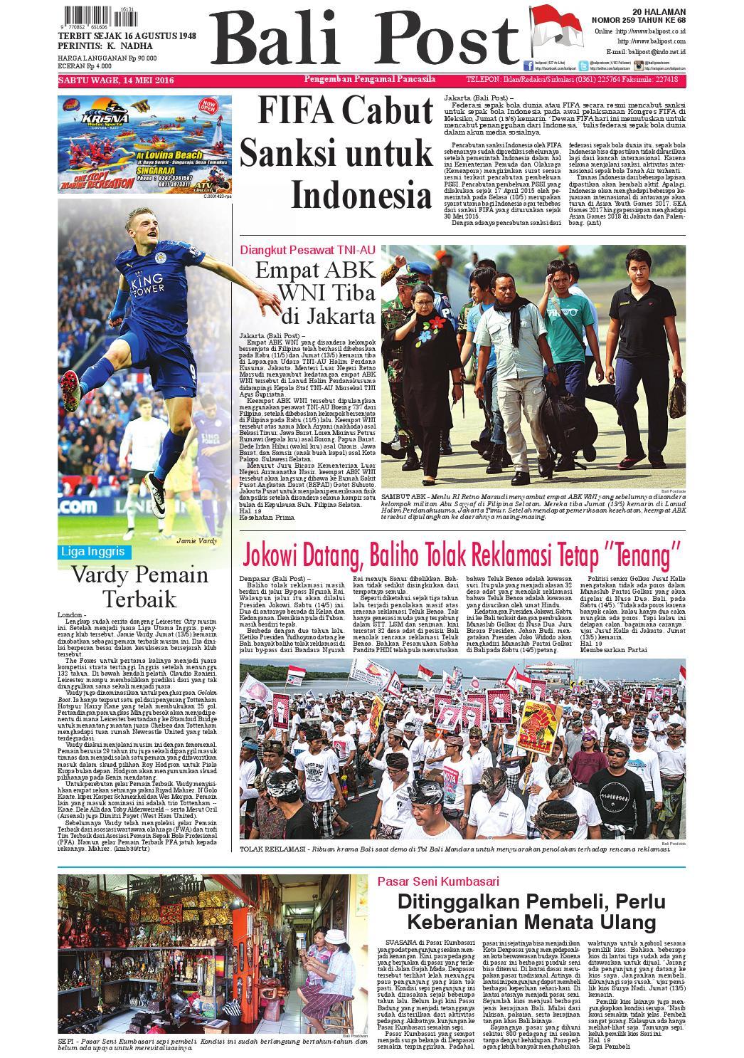 Edisi 14 Mei 2016 Balipostcom By E Paper Kmb Issuu Strong Kangen Water Ph 115 Ukuran 1000 Ml Terapi Air Kelas Dunia Indonesia