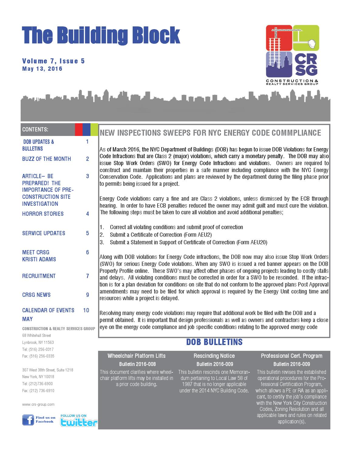 May '16 by Construction & Realty Services Group - issuu