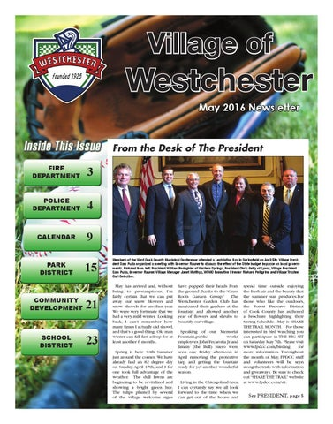 may 2016 village of westchester newsletter by village of