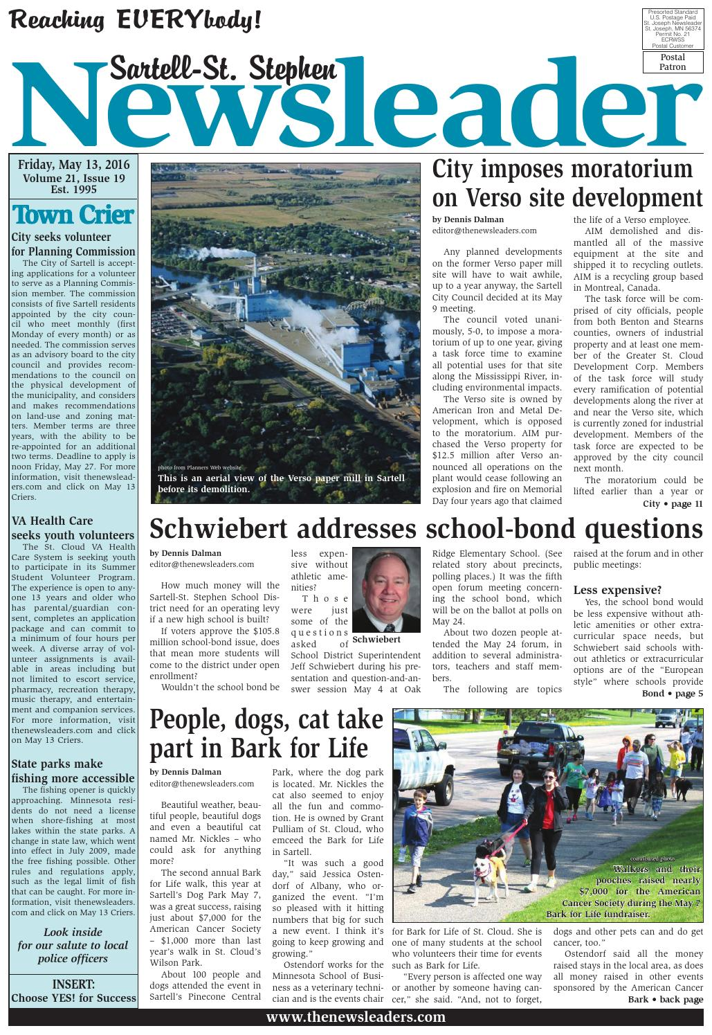 Sartell St Stephen Newsleader May 13 2016 By The
