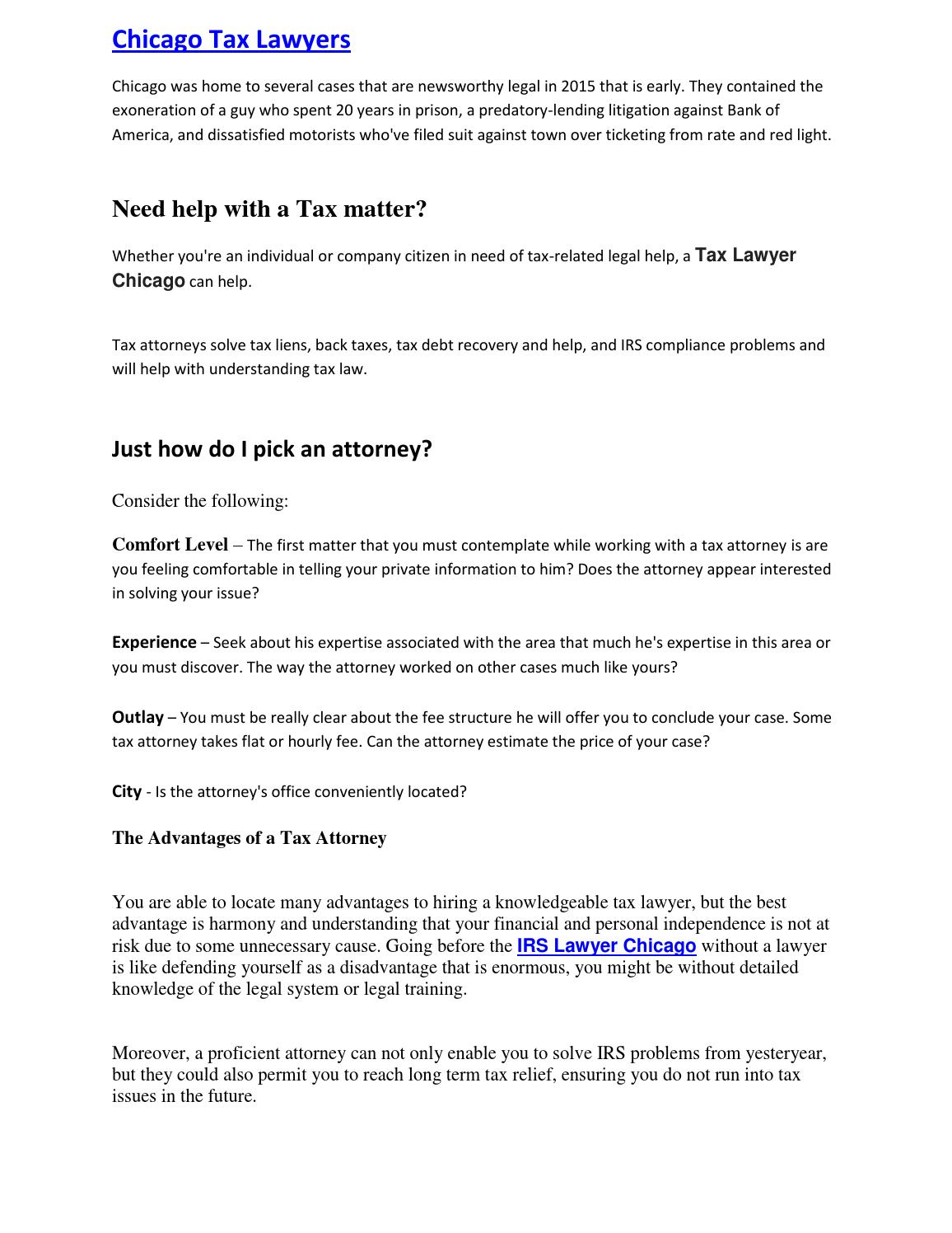 Chicago tax lawyers by Attorneys Tax Relief - issuu