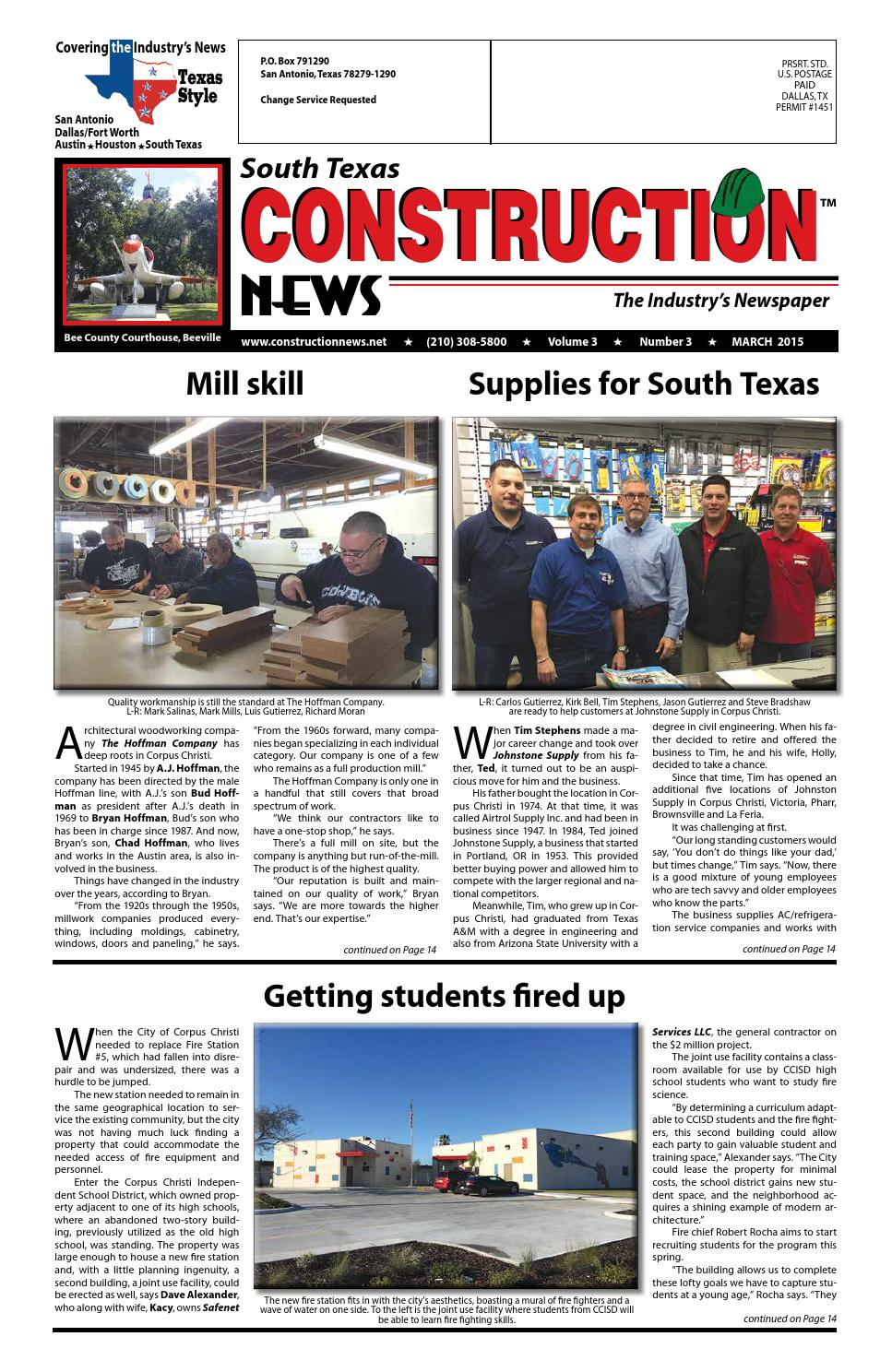 South Texas Construction News March 2015 By Construction