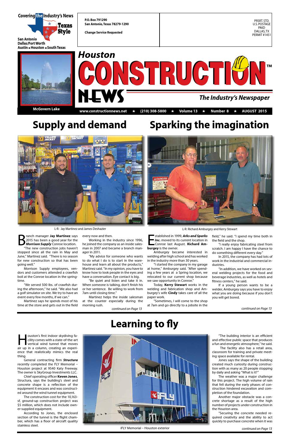 Houston Construction News August 2015 By Construction News
