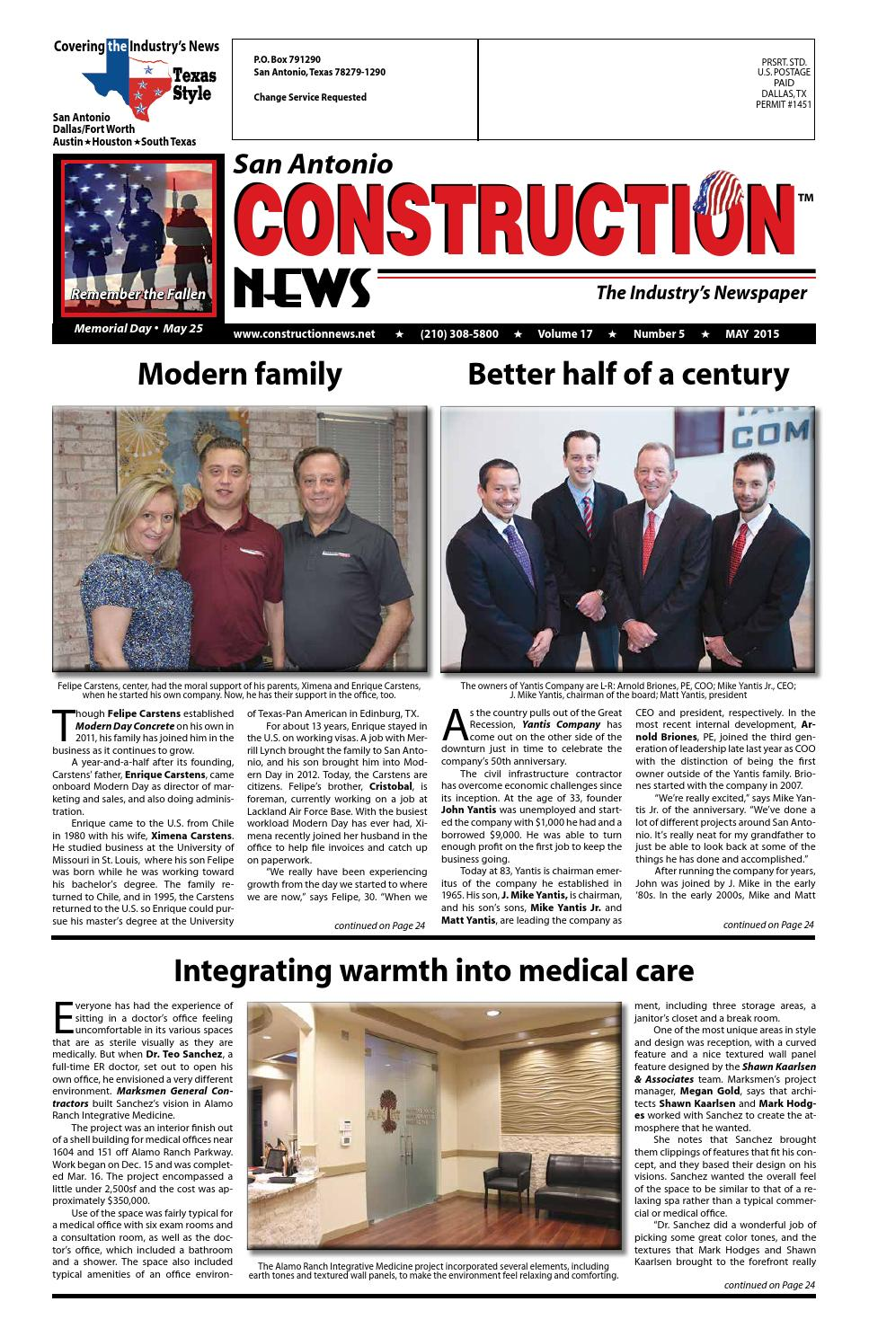 San Antonio Construction News May 2016 By Construction