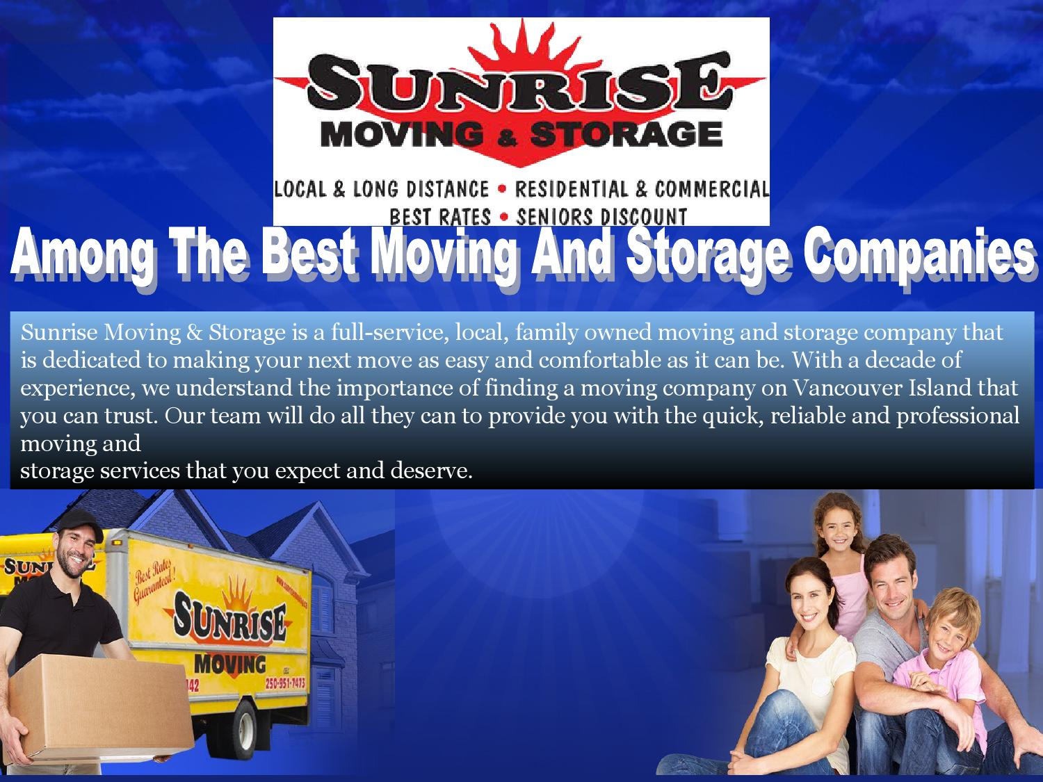 Moving And Storage Companies >> Among The Best Moving And Storage Companies By Sunrisemoving