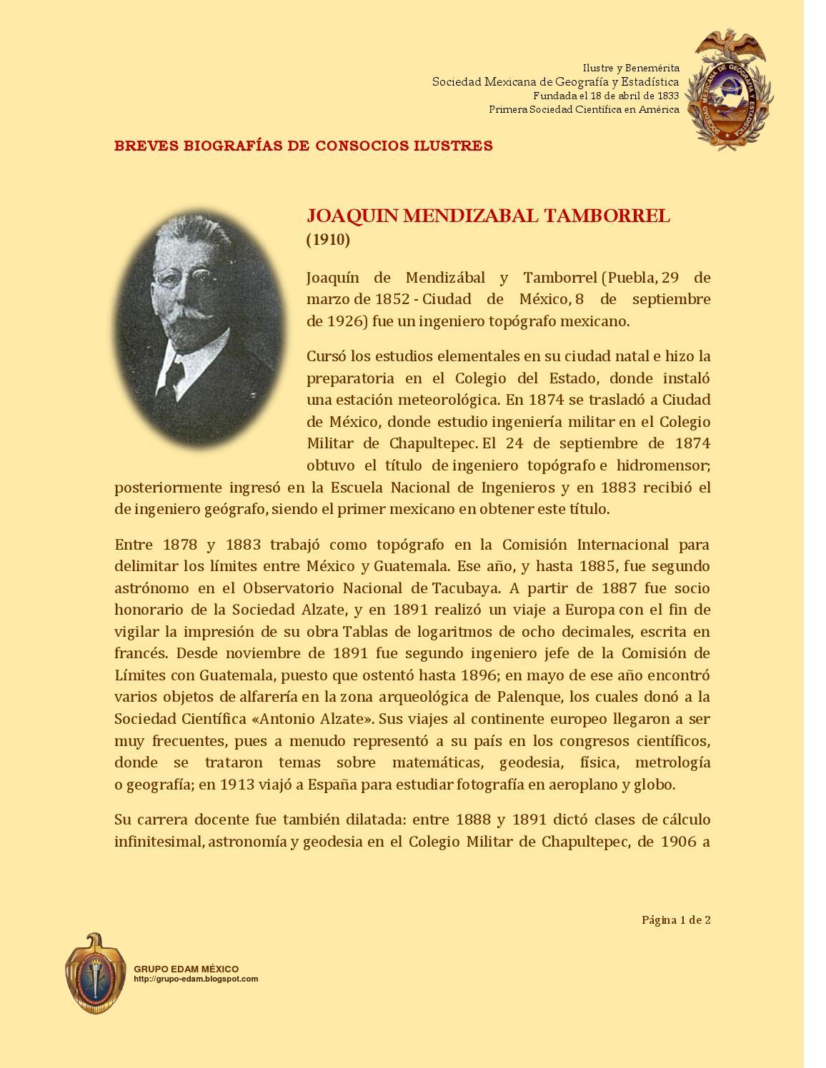 1910 Joaquin Mendizabal Taborrel by SMGE MÉXICO - issuu
