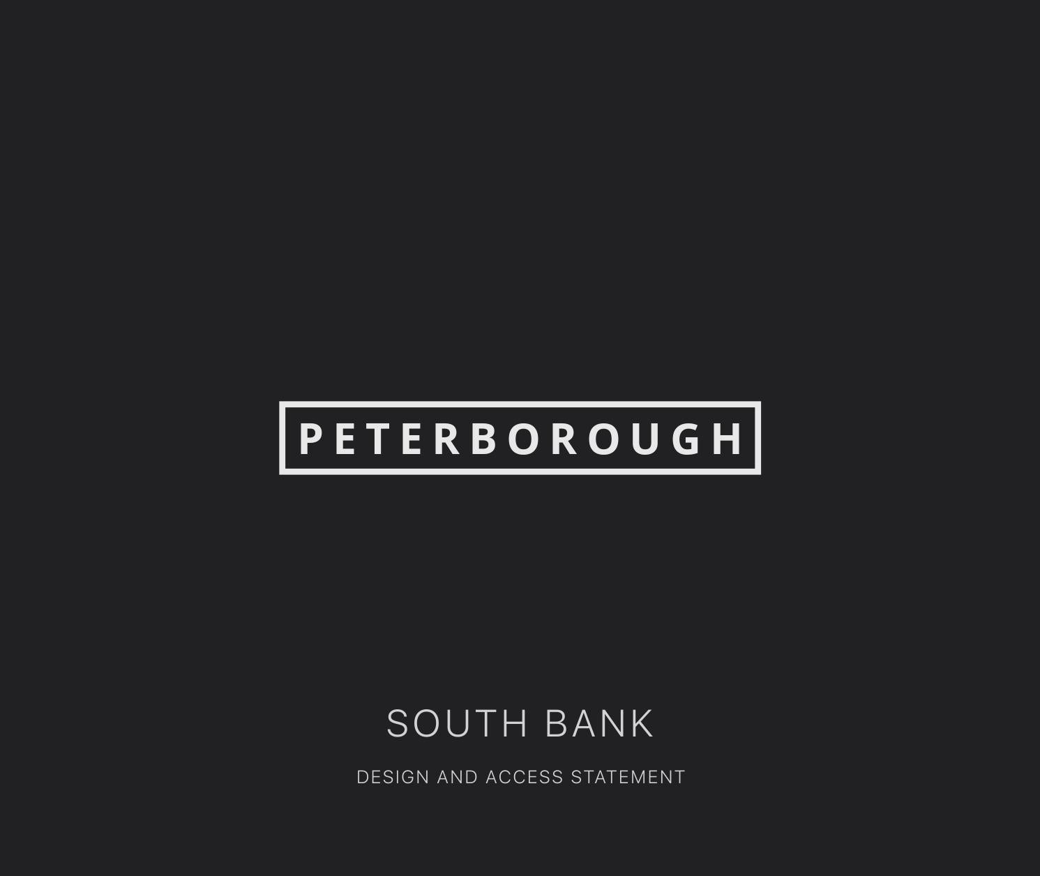 Peterborough Southbank Design and Access Statement by Nisha Gandhi