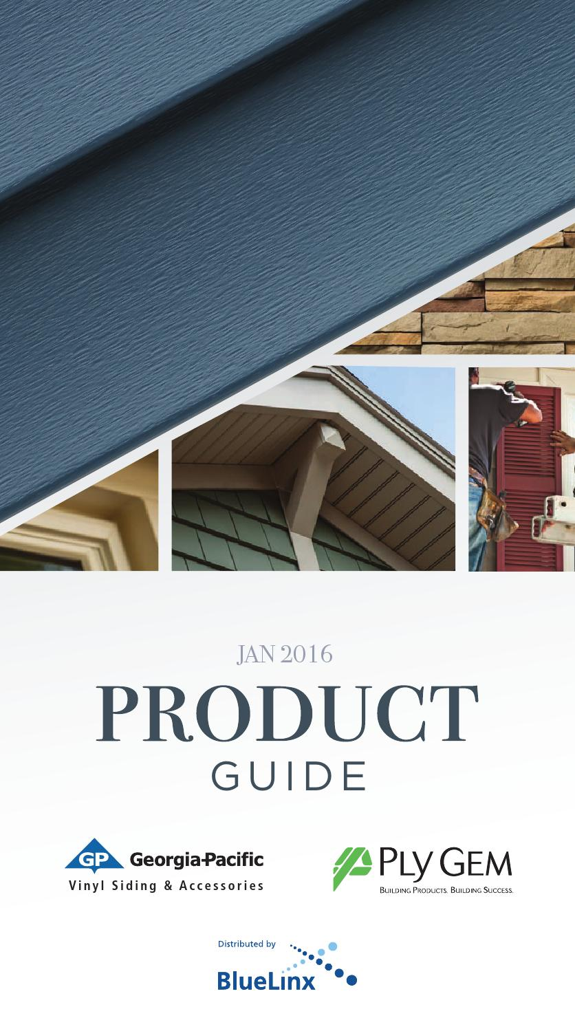 Georgia Pacific 2016 Vinyl Product Spec Guide By Cliff