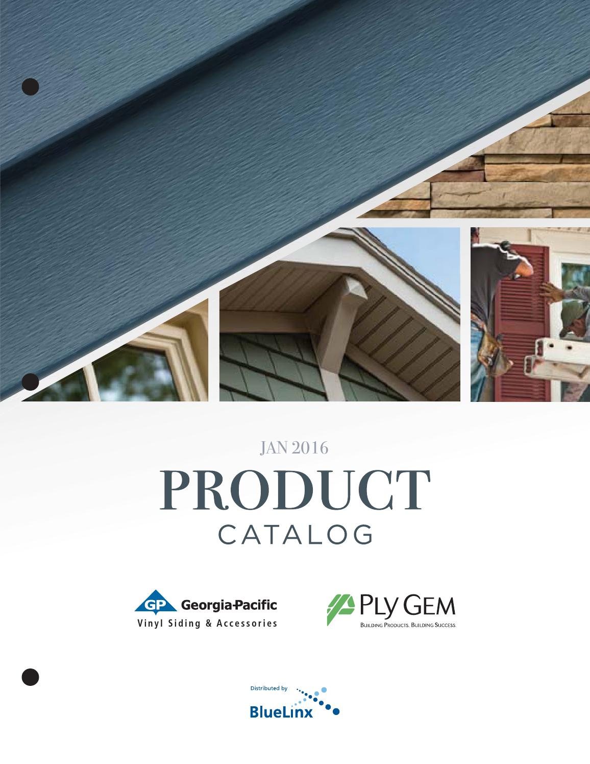 Georgia Pacific 2016 Vinyl Siding And Accessories Catalog