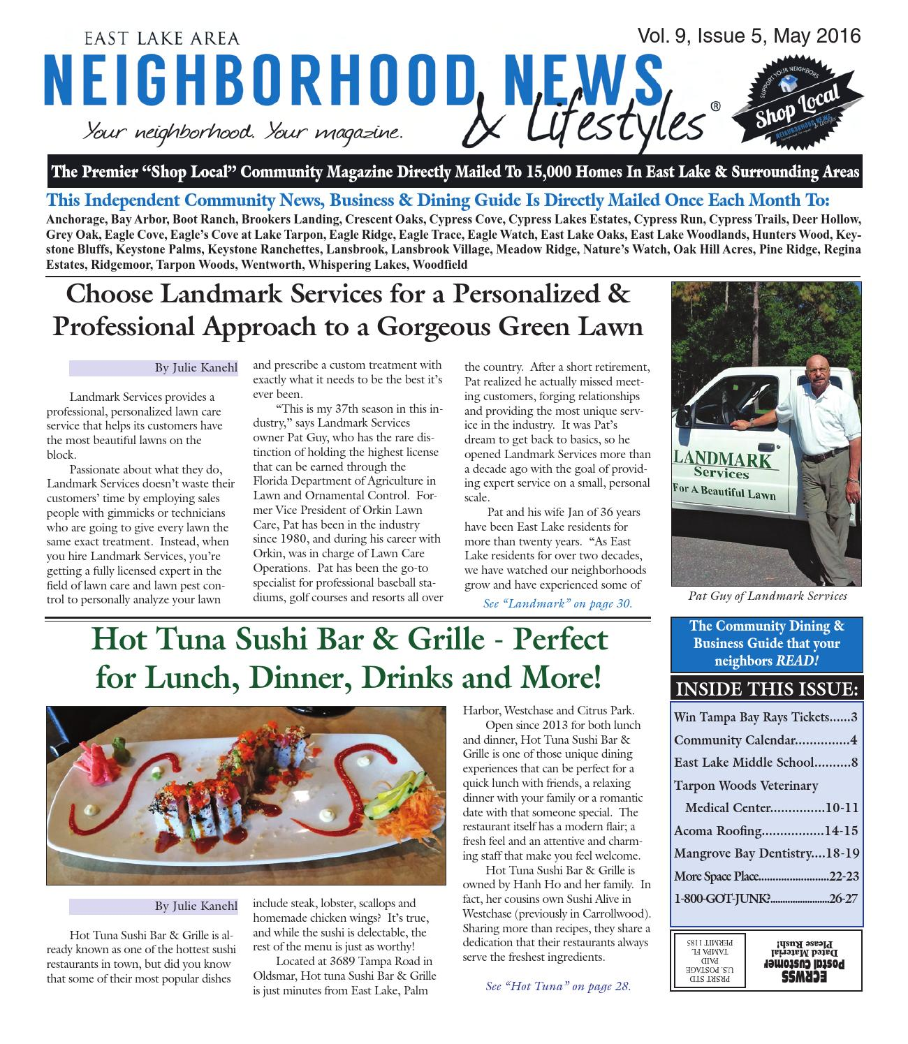 Oak Arbor Grille: Vol. 9, Issue 5, May 2016 By Tampa Bay News