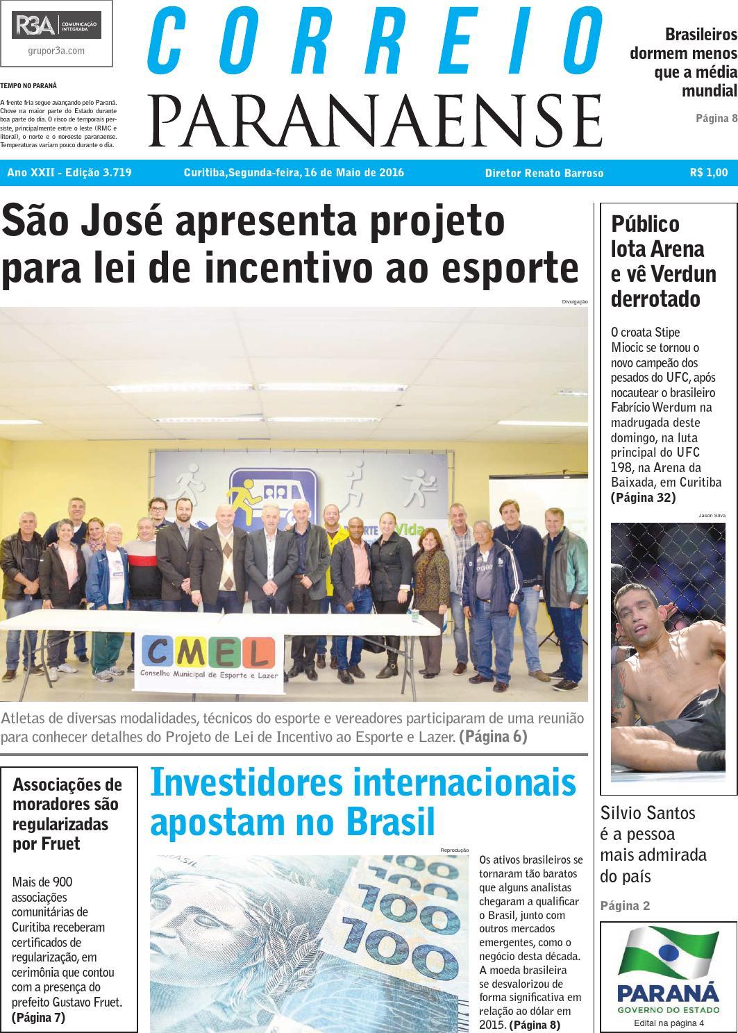 6c0ea5285 Correio Paranaense - Edição 16 05 2016 by Editora Correio Paranaense - issuu