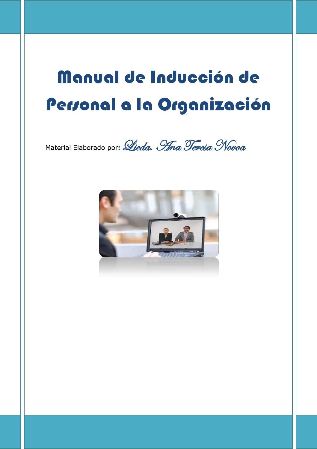 Manual de inducción de personal a la organización by Any Novoa - issuu