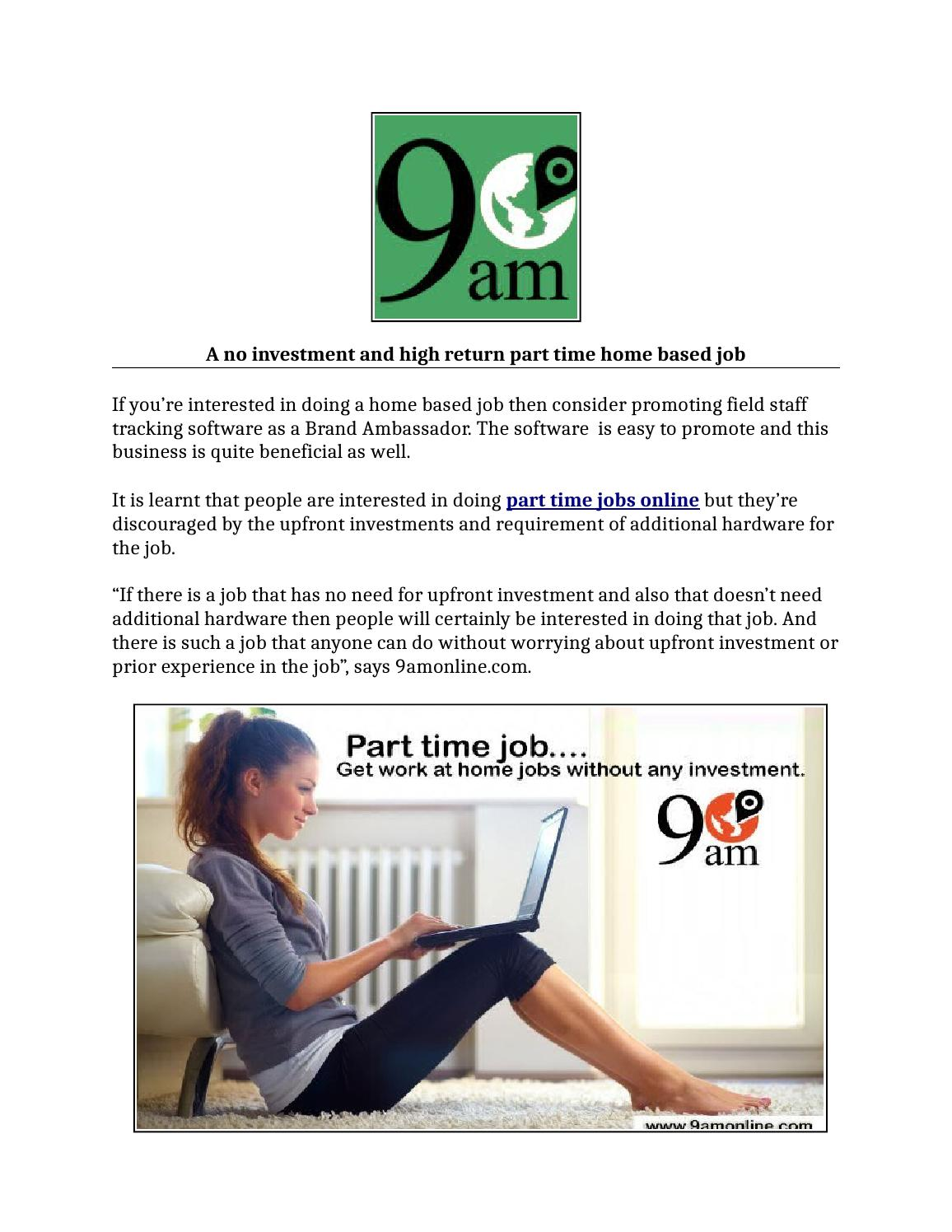 Part time jobs online, online part time jobs from home (pr) 9 may ...