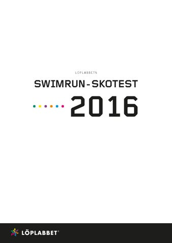 Swimrun skotest 2016 by Löplabbet - issuu b575b2883821b