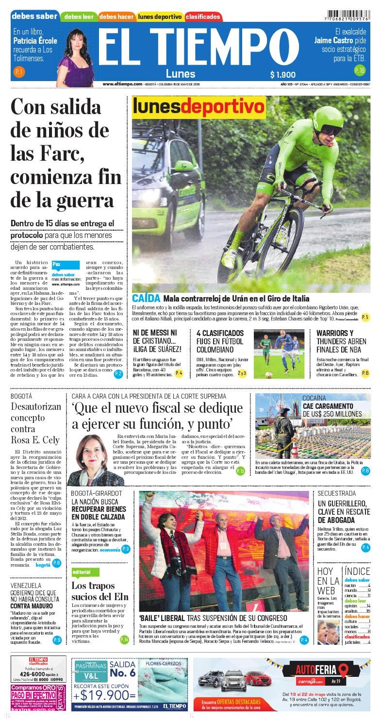 EL TIEMPO 16-05-2016 by Andres A. - issuu 547f55669d01b