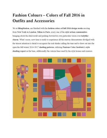 Fashion colours colors of fall 2016 in outfits and accessories 591ba36739e