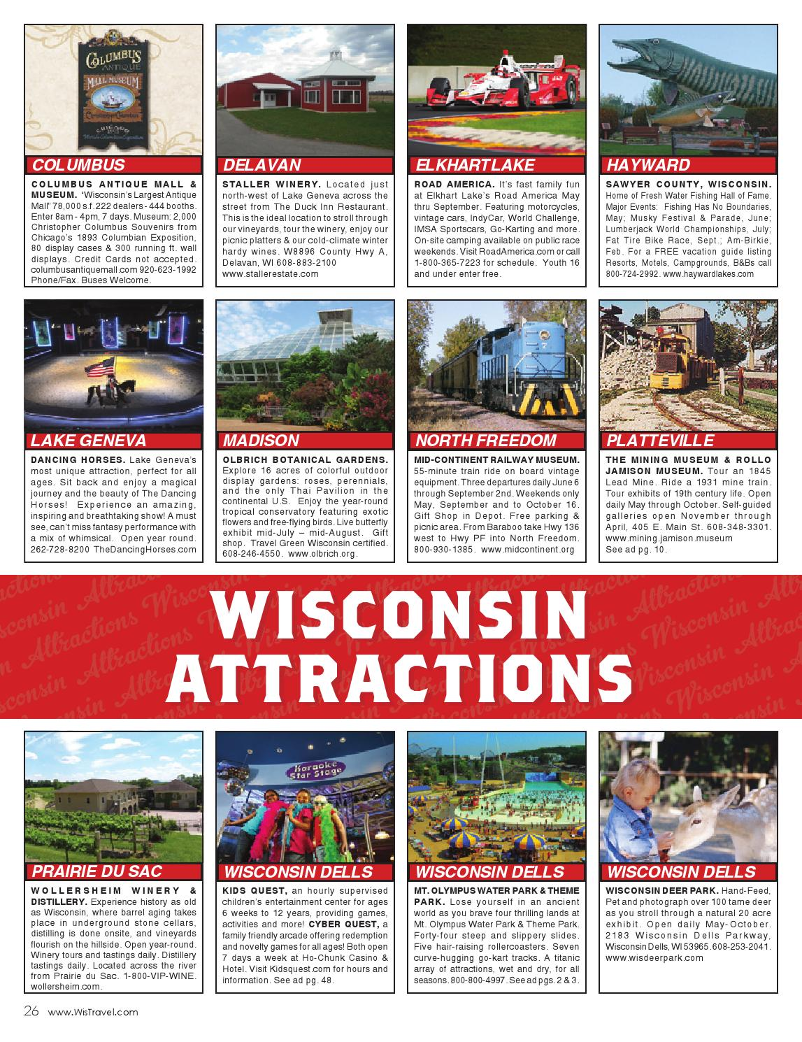 2016 Wisconsin Summer Travel Guide By Vector Ink Issuu