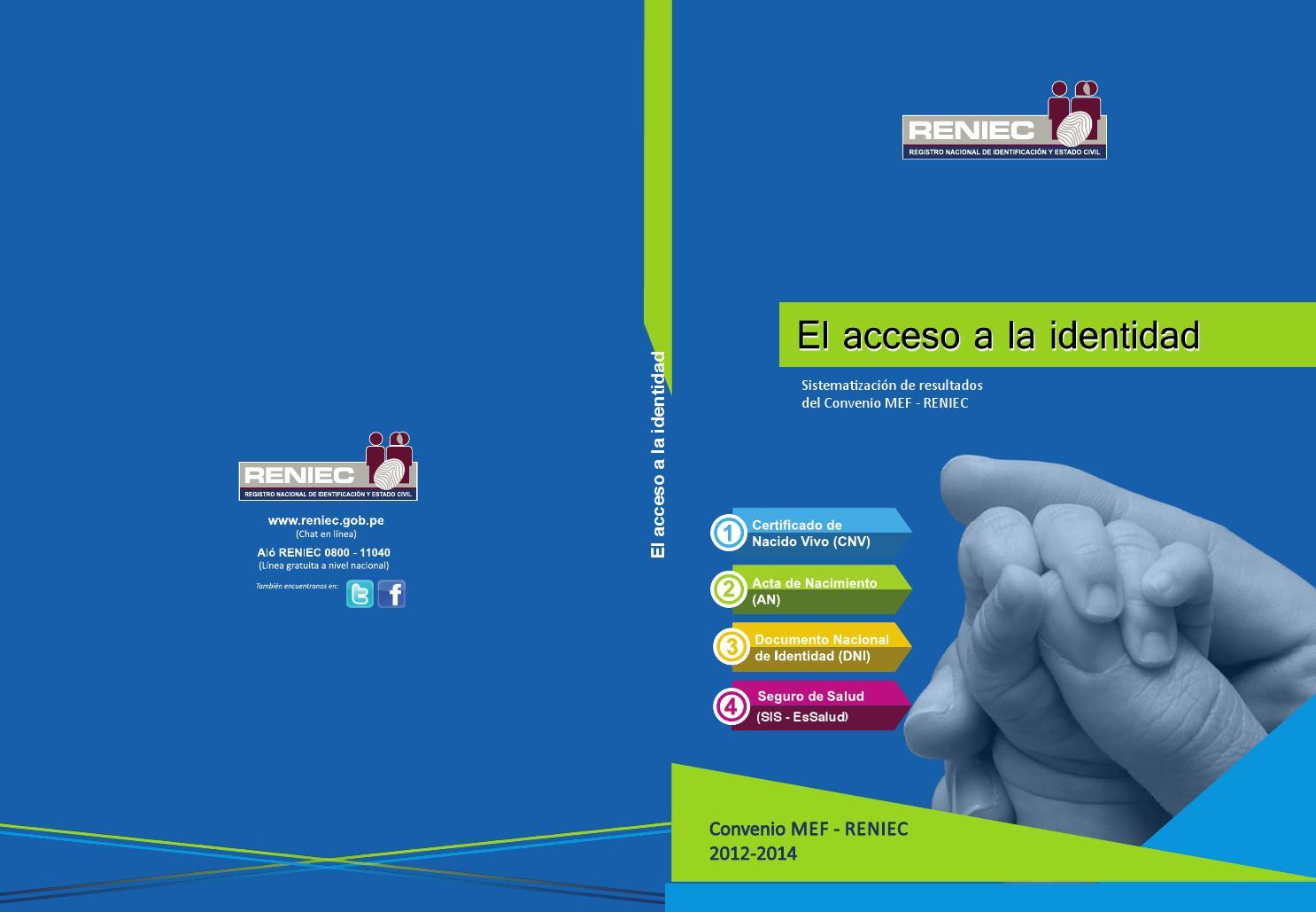 Acceso A Identidad Resultados Convenio Mef Reniec By Julio
