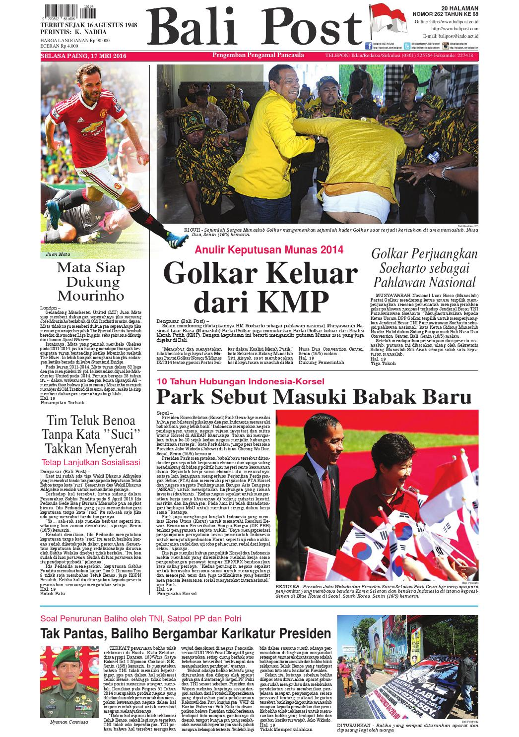 Edisi 17 Mei 2016 Balipostcom By E Paper KMB Issuu