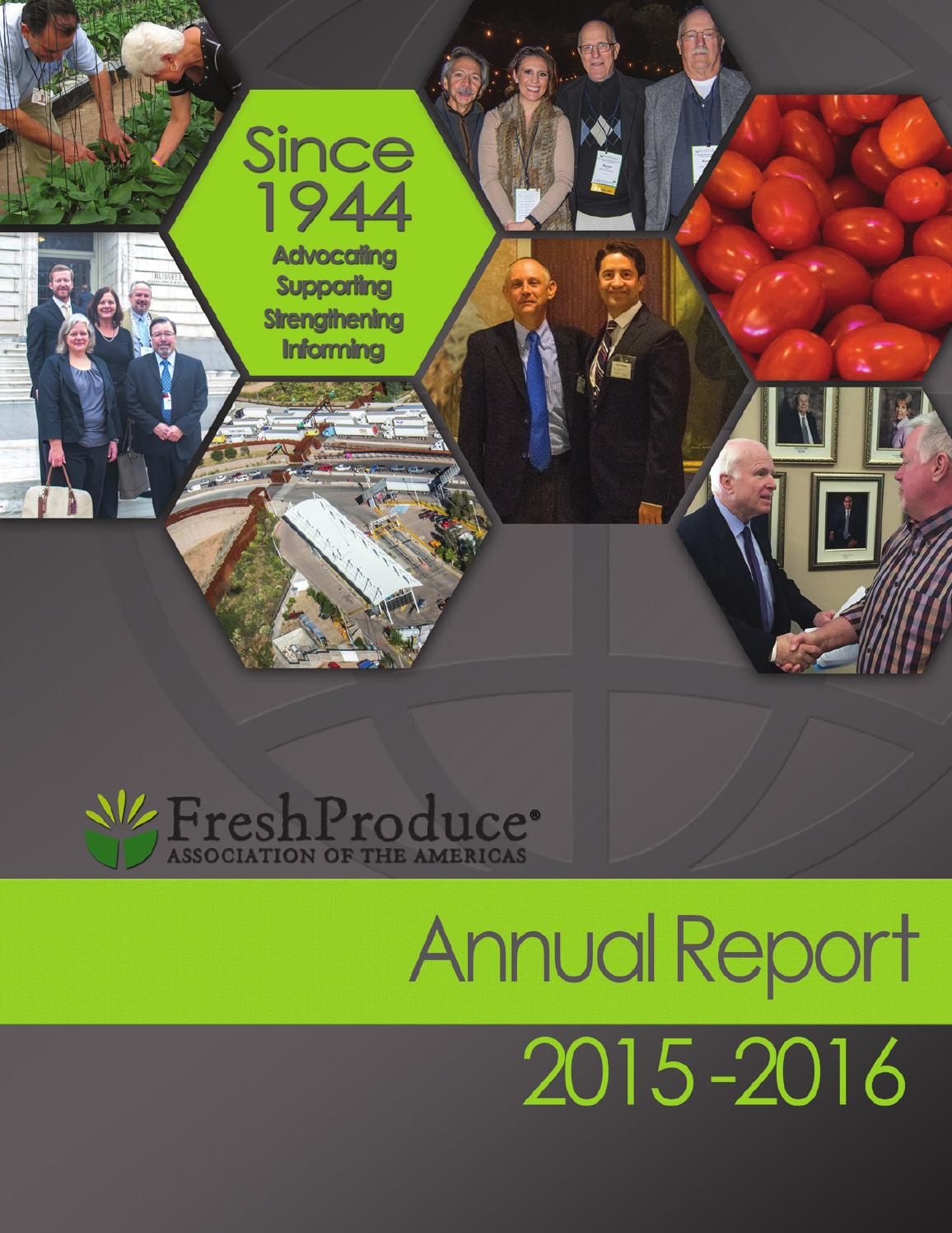 FPAA Annual Report 2015-2016 by Fresh Produce Association of