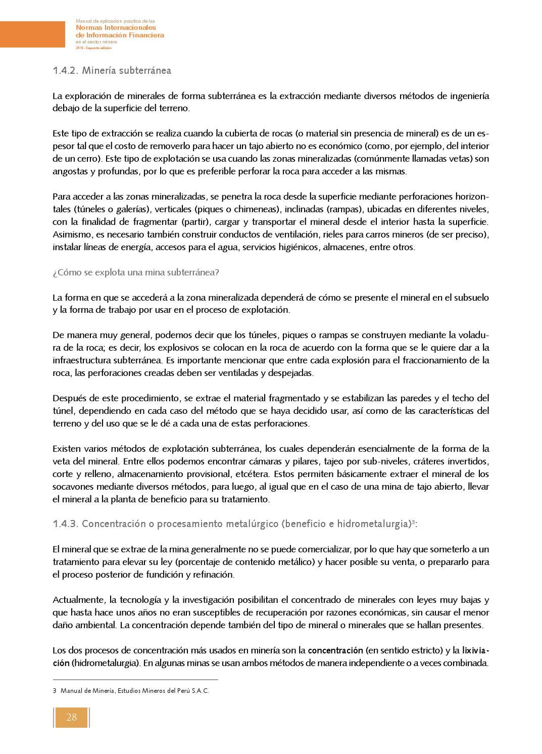 Manual de aplicación práctica de las Normas Internacionales de Información  Financiera en el sector by Sociedad Nacional de Minería, Petróleo y Energía  - ...