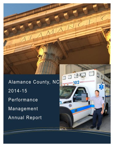 Alamance county performance management annual report by The