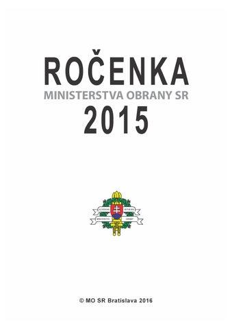 Ročenka MO SR 2015 by Ministerstvo obrany SR - issuu 9945cbb6c45