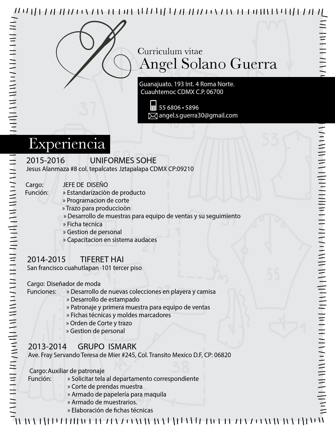 Angel solano curriculum vitae by Angel Guerra - issuu