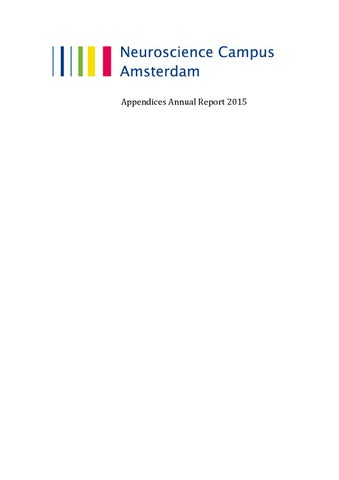 Fantastisch Page 1. Appendices Annual Report 2015